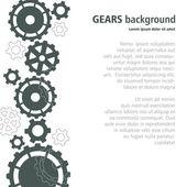 Gears vertical banner. Vector illustration. — Stock Vector