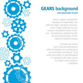 Gears background. — Stock Vector