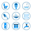 sanitair icons set — Stockvector  #28598299