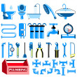 Plumbing colour icons set — Stock Vector #28598305