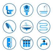 Plumbing icons set — Stock Vector