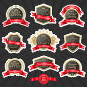 Premium quality label set 1 — Stock Vector
