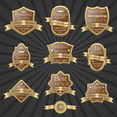 Jeu de label de qualité premium — Vecteur