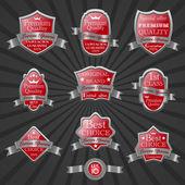 Sistema de etiqueta de calidad premium — Vector de stock