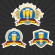 Octoberfest beer labels set — Stock Vector