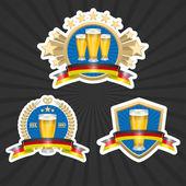 Octoberfest beer labels set — Stock Vector