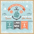 Vector de stock : Nautical wedding invitation 2