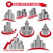Real estate logos — Stock Vector