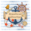 Nautical collection 4 — Stock Vector
