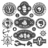 Nautical labels set — Stock Vector