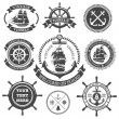 Nautical set 4 — Stock Vector
