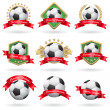 Stock Vector: Set of soccer labels and emblems