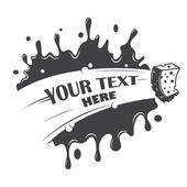 Blot cleaning sponge with a place for your text — Vector de stock
