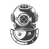 Vintage diving helmet — Stock Vector