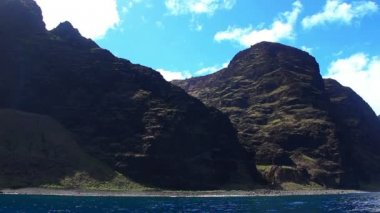 Na Pali Coast Kauai, Hawaii From Boat — Stock Video