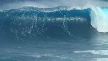 Empty Ocean Wave Slow Moion — Stock Video