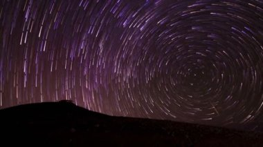 Star Trail Time Lapse Background — Stock Video
