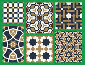 Agra Seamless Patterns Set Five — Stock Vector