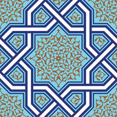 Ashkezar Seamless Floral Pattern — Stock Vector