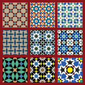 Moorish Seamless Pattern Set Three — Stock Vector