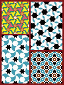 Moorish Seamless Patterns Set Five — Stock Vector