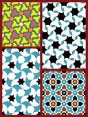 Moorish Seamless Patterns Set Five — Stock Vector