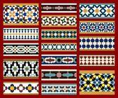 Moorish seamless border set — Stock Vector