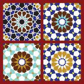 Omar Seamless Patterns Set — Stock Vector