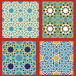 Sevan Seamless Patterns Set — Stock Vector