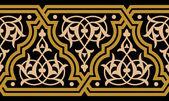 Moorish Fez Seamless Border Two — Stock Vector