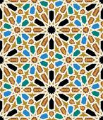Moorish Fez Seamless Pattern Four — Stock Vector