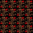 Seamless roses pattern — Stock Photo