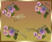 Floral card Thank you — Stock Photo
