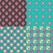 Set of 4 seamless patterns — Stock Vector