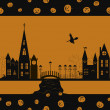 ストックベクタ: Halloween card seamless pattern