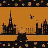 Halloween card seamless pattern — Stock Vector