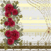 Floral card with roses — Stock Photo