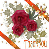 Сard Thank you — Stock Photo