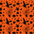 Stock Vector: Halloween card seamless pattern background