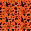 Wektor stockowy : Halloween card seamless pattern background