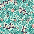 Stock Vector: Seamless exotic floral pattern