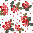 Stock Photo: Seamless floral pattern with hibiscus