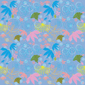 Seamless pattern with flowers and leaves — Стоковое фото