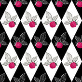 Seamless pattern with raspberry — Stock Vector