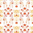 Seamless pattern with decorative elements — Stock Photo