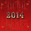 Happy New Year greeting card — Stock Photo