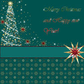 Merry Christmas and Happy New Year greeting card — Stock Photo