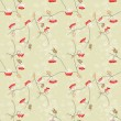 Rowan berry seamless pattern — Stock Photo