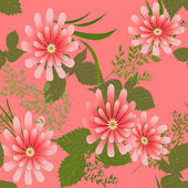 Seamless floral pattern — Stockfoto