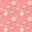 Seamless pattern with cupcakes — Stock Photo